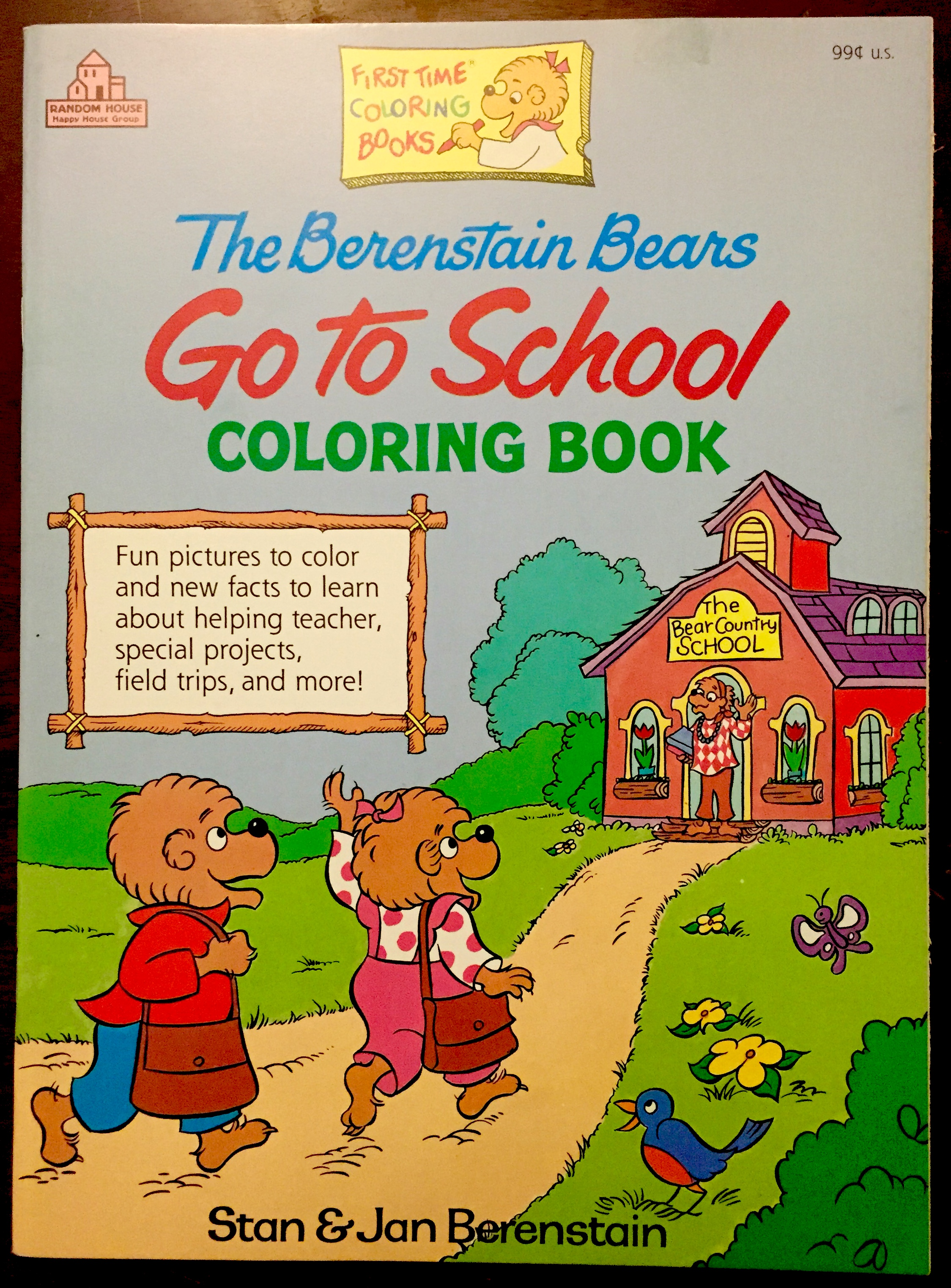 go to school is the rarest of the first time coloring books random house the berenstain bears - Berenstain Bears Coloring Book