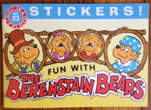 """Fun with Berenstain Bears"" sticker book by American Greetings (1998)"