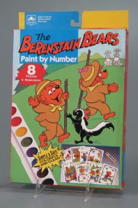 """""""The Berenstain Bears Paint by Number"""" (1992) activity kit (Golden #5615)"""