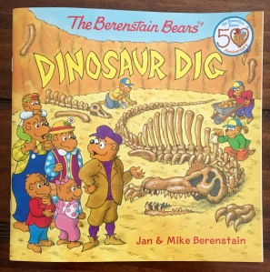 One of the newest Berenstain Bears books featuring dinosaurs,