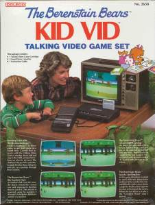 Back cover of Berenstain Bears Kid Vid Talking Video Game Set for Atari 2600 (Coleco, 1983)