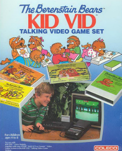 Cover of Berenstain Bears Kid Vid Talking Video Game Set for Atari 2600 (Coleco, 1983)