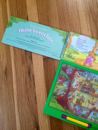 The Berenstain Bears' Home Sweet Tree (Yes Interactive, 1995) featuring magnetic bears who can move from room to room!