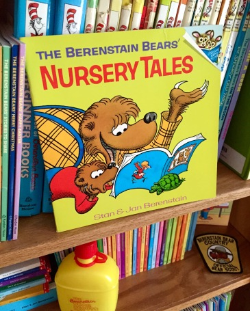 "The first book to use the official title of ""The Berenstain Bears..."" was ""Nursery Tales"" from 1973."