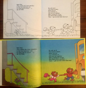On top: The original line edition that your kid brother probably tried to color. On bottom: the later full color version.